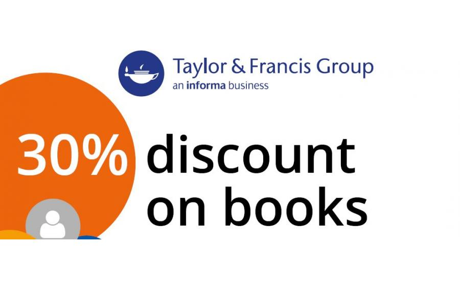 Taylor & Francis: 30% discount on books